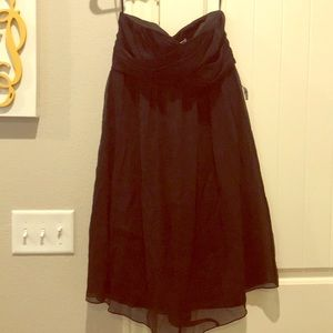 NWT J. Crew silk black strapless dress
